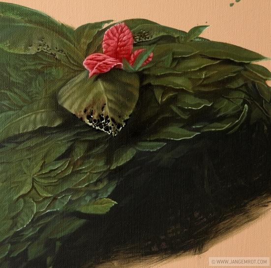 Jan Gemrot ikebana mortis 5 80 cm x 120 cm, olej na plátně