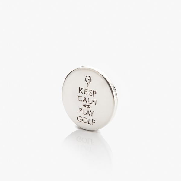 Keep calm and play golf na golfovém stříbrném markovátku.