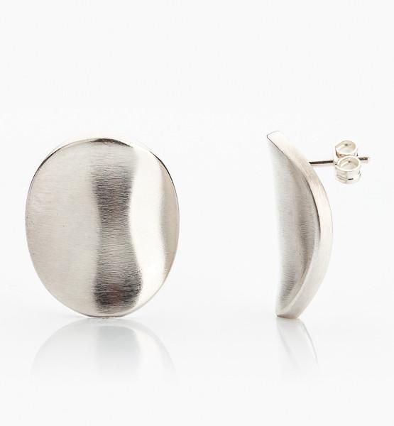Stříbrné náušnice autorské šperky Marie Bernotovál
