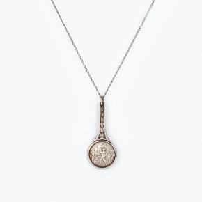 Poničená kávová lžička jako luxusní vintage náhrdelník.
