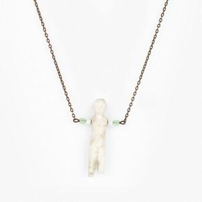 Vintage náhrdelník mentol barvy