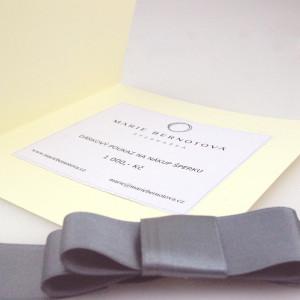 Dárkový poukaz, poukázka, certifikát na nákup šperku